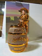 Jim Beam Iajbbsc 22k Gold Cowgirl Decanter Only 15 Made 12 Of 15