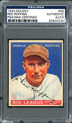 Red Ruffing Autographed 1933 Goudey Rookie Card 56 Vintage Psa/dna 83830334