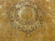 10and039x11and039 New Flat Hand-knotted Washed Out Vintage Over Dyed Tabrizz Oriental Rug