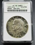 1971 S 1 Ike Eisenhower Silver Dollar Coin Anacs Pf66 Cameo Variety Ddo 054