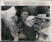 1957 Press Photo Gov. Robert Meyner Give Gifts To Hungarian Refugees Children