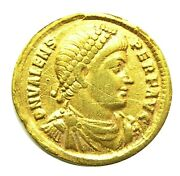 364 - 378 Ad Ancient Roman Gold Solidus Of Emperor Valens Minted In Antioch