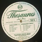 Rca Thesaurus Lp Radio Commercials Jingles Meats Frozen Foods Sell A House Vg+
