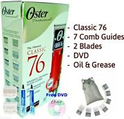 Oster Classic 76 Professional Hair Clipper 76076-010 -plus Universal 7 Comb Set
