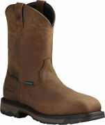 Menand039s Ariat Workhog Wide Square Toe H2o Composite Toe Boot Oily Distressed