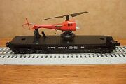 Lionel New York Central Helicopter Flat Car W/rescue Helicopter 37034 O Gauge