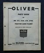 1950and039s Oliver No. 312 312a 314 314a Tractor Gang Plow Parts Catalog Manual