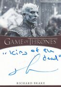 Game Of Thrones S8 Inscription Autograph Card Signed By Richard Brake  7