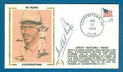 1979 Satchel Paige Autographed Gateway Cachet 40th Year Cooperstown Hof