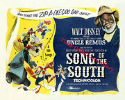 Vintage Disney Song Of The South Movie Poster - Available In 5 Sizes