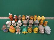 Lot Of 25 Toy Figures Fisher Price Little People Farm Barn And Zoo Animals