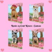 Rosie 25 Cent Kisses Dog Cat Canvas Print Wall Art Home Décor 24x36 Inches