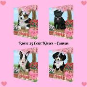 Rosie 25 Cent Kisses Dog Cat Canvas Wall Art Home Décor, 8x10 Inches