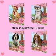 Rosie 25 Cent Kisses Dog Cat Canvas Wall Art Home Décor, 16x20 Inches