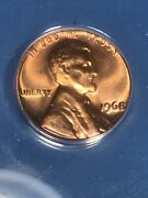 1968 Lincoln Memorial Cent Penny Coin Vintage Retro Anacs Ms67 Rd Red Gem Bu