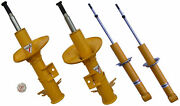 Anika Yellow Sports Shock Absorber Set Front+rear For Vw Golf 2 Gti G60