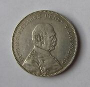 Germany Silver Memorial Medal 1894 Taler Wilhelm Ii And Bismark By Lauer Rare.
