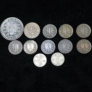 Lot Of 12 Norway Coins 1867 - 1898 1, 5, 10 Ore, 1/2 Skilling - Avg Circulated