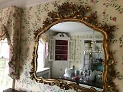 Antique Wall Mount Gold Framed Mirror