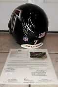 Atlanta Falcons 7 Michael Vick Signed Game Used / Worn Nfl Helmet Autograph