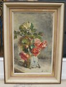 Anna Peters 1843 - 1926 - Still Life With Roses - Autographed