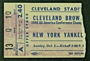 1947 Cleveland Browns Vs New York Yankees Football Game Ticket Stub