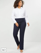 Nwot Lane Bryant Navy Allie Tailored Stretch Straight Pants Sz 18r
