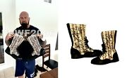 Wwe Luke Gallows Hand Signed Event Used Ring Worn Boots With Proof And Coa Rare