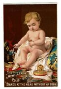 Trade Card Acme Lever Collar And Cuff Button Baby Surrounded In Finery