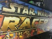 Sega Star Wars Racer Arcade Marquee Light Sign For Full Size Sit Down Video Game