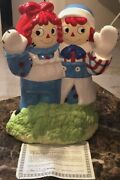 Raggedy Ann And Andy Vintage Cookie Jar Limited Edition1997 Treasure Craft Rare