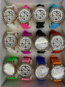 New Lot Of 12 Pc Womenand039s Fashion Mix Color Watch Wholesale