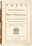 1744-1758 Province Pennsylvania Passed Acts Of Assembly Contains 856 Pages