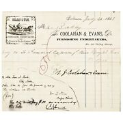 1883 Document Signed John T Ford Manager Of Fords Theater Where Lincoln Was Shot