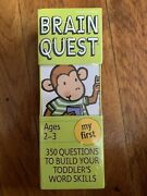 Brain Quest My First, Ages 2-3 350 Questions To Build Your Toddler's Word...
