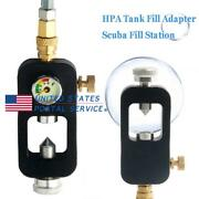 Paintball Scuba Fill Station Tank Hpa Valve Adapter With Spring Protector Hose