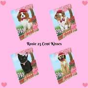 Rosie 25 Cent Kisses Dog Cat Tempered Glass Cutting Board Kitchen 16x12 In