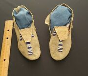 Native American Heritage, Beaded Childs Moccasins, From Major Collection, 1870