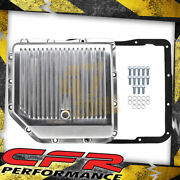 For Chevy Gm Turbo 350 Th350 Aluminum Transmission Pan Kit Deep Finned Polished