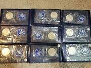 1971 Eisenhower Brilliant Uncirculated Dollar Proof 40 Silver Lot Of 19