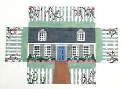 Sp.order Cape Cod House Brick Cover Door Stop Hp Needlepoint Canvas S.roberts