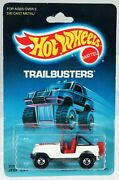 Hot Wheels Jeep Cj-7 Trailbusters Series 2539 Never Removed From Pk 1986 White