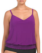 New Magicsuit Plus 20w Miraclesuit Tankini Top Only Swimsuit Justina Purple