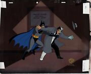 Batman The Animated Series 3 Lot Two-face Animation Cel Draw And Obg 1992 5580