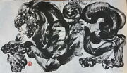 19 Wall Decor Abstract Art Painting Original Acrylic On Mulberry Paper Thailand