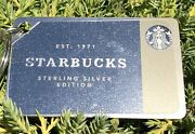 Starbucks Sterling Silver Edition Keychain Gift Card 50.00 Value