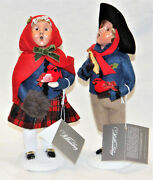 Byers Choice Colonial Cardinal Boy And Girl Carolers - Free Priority Shipping