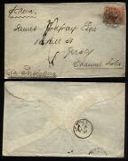 1870 Argentina To Jersey Channel Islands Franked By 5 Centavos Rivadavia