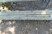 Vintage Wright And Mcgill Eagle Claw Daisy Fishing Pole Square Glass 8 1/2 Foot