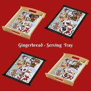 Christmas Gingerbread Cookie Dog Cat Pet Photo Lovers Wood Serving Tray Gift